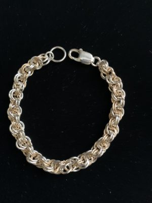 Gold and Silver Double Spiral Bracelet